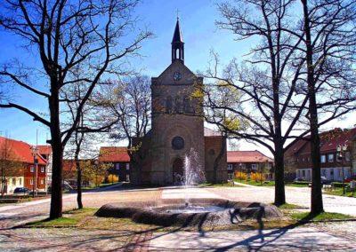 Hasselfelde -Marktplatz mit Stadtkirche