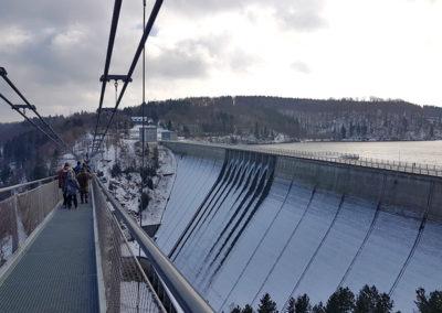 Seilhängebrücke an der Rappbodetalsperre